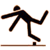 Image of stick figure stumbling over rock
